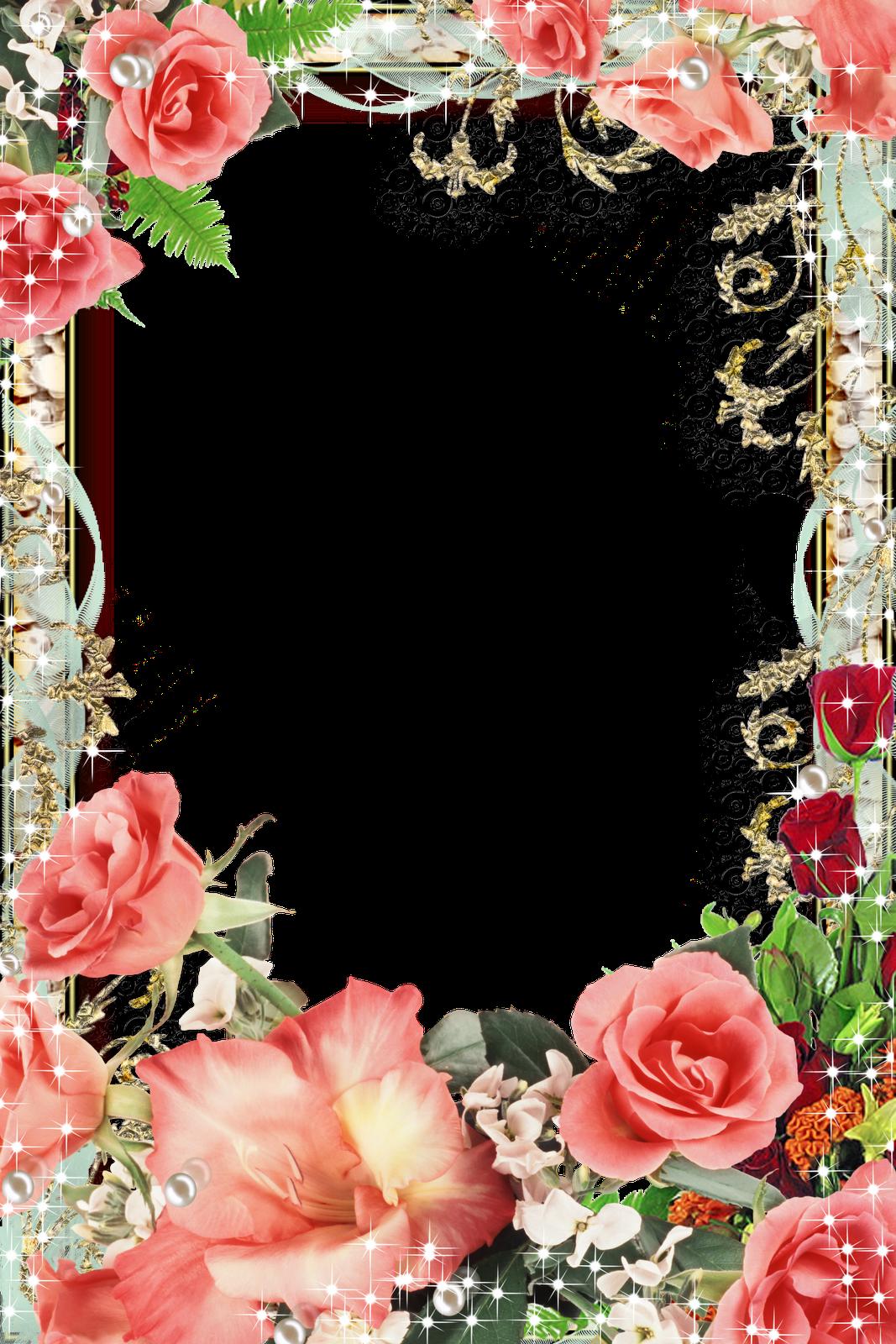 Рамки открытки с днем рождения с цветами