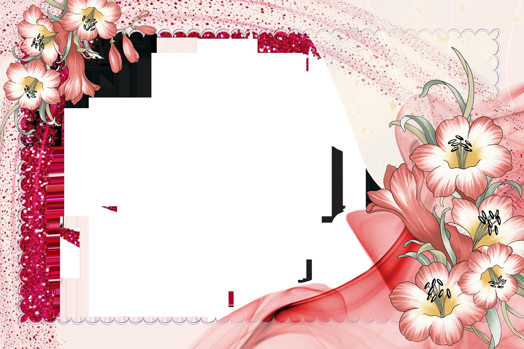 Картинка с рамкой для текста цветы, детские