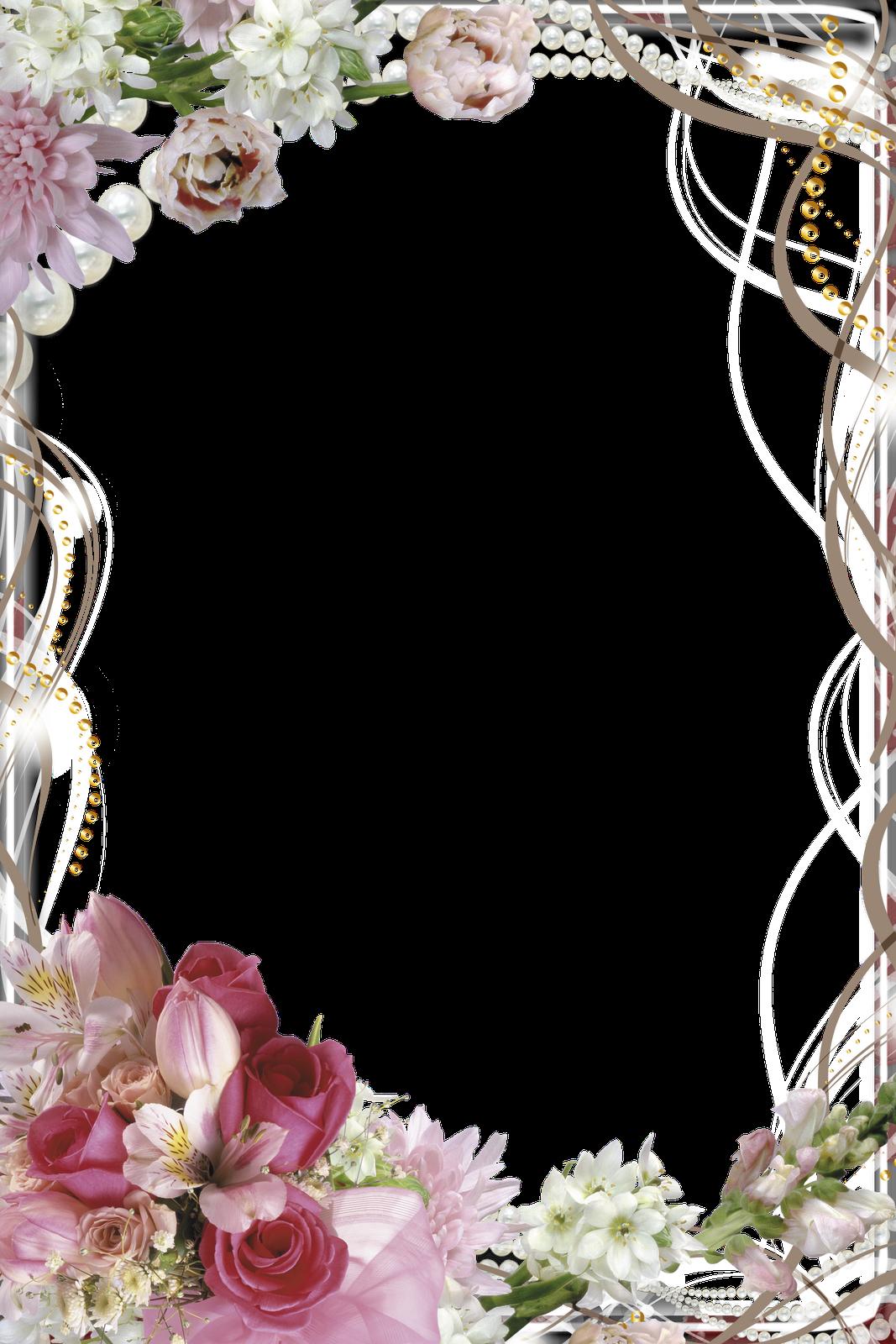 Открытка для текста с цветами
