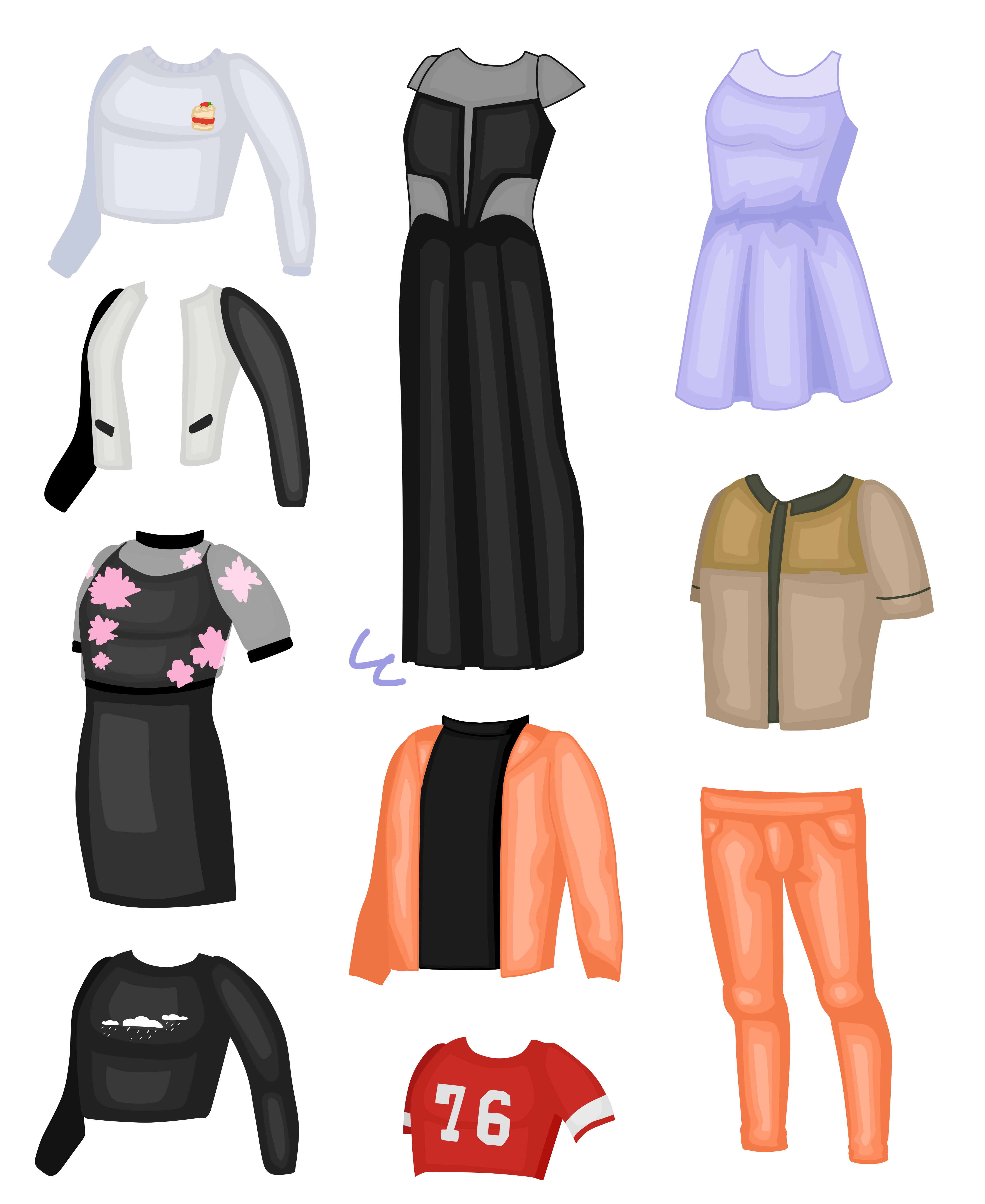 Самодельная одежда для аватарии в пнг