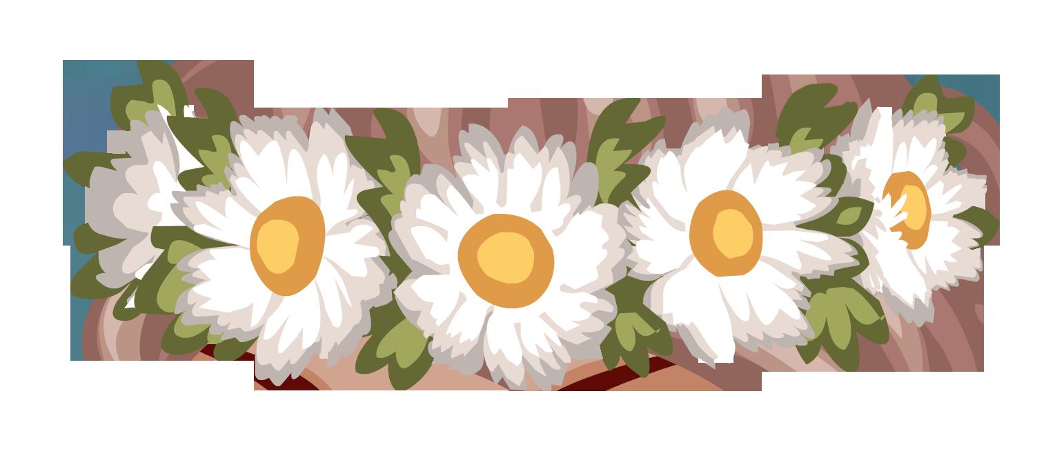 Картинки венок из цветов для пони