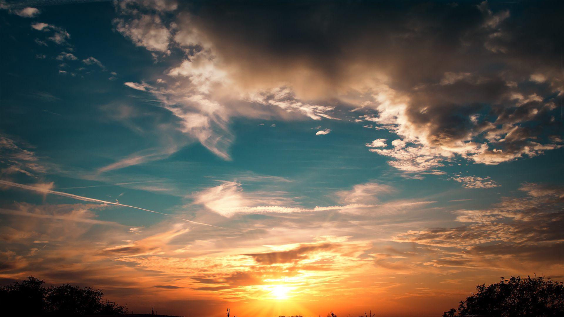 закат солнце облака  № 3852041  скачать