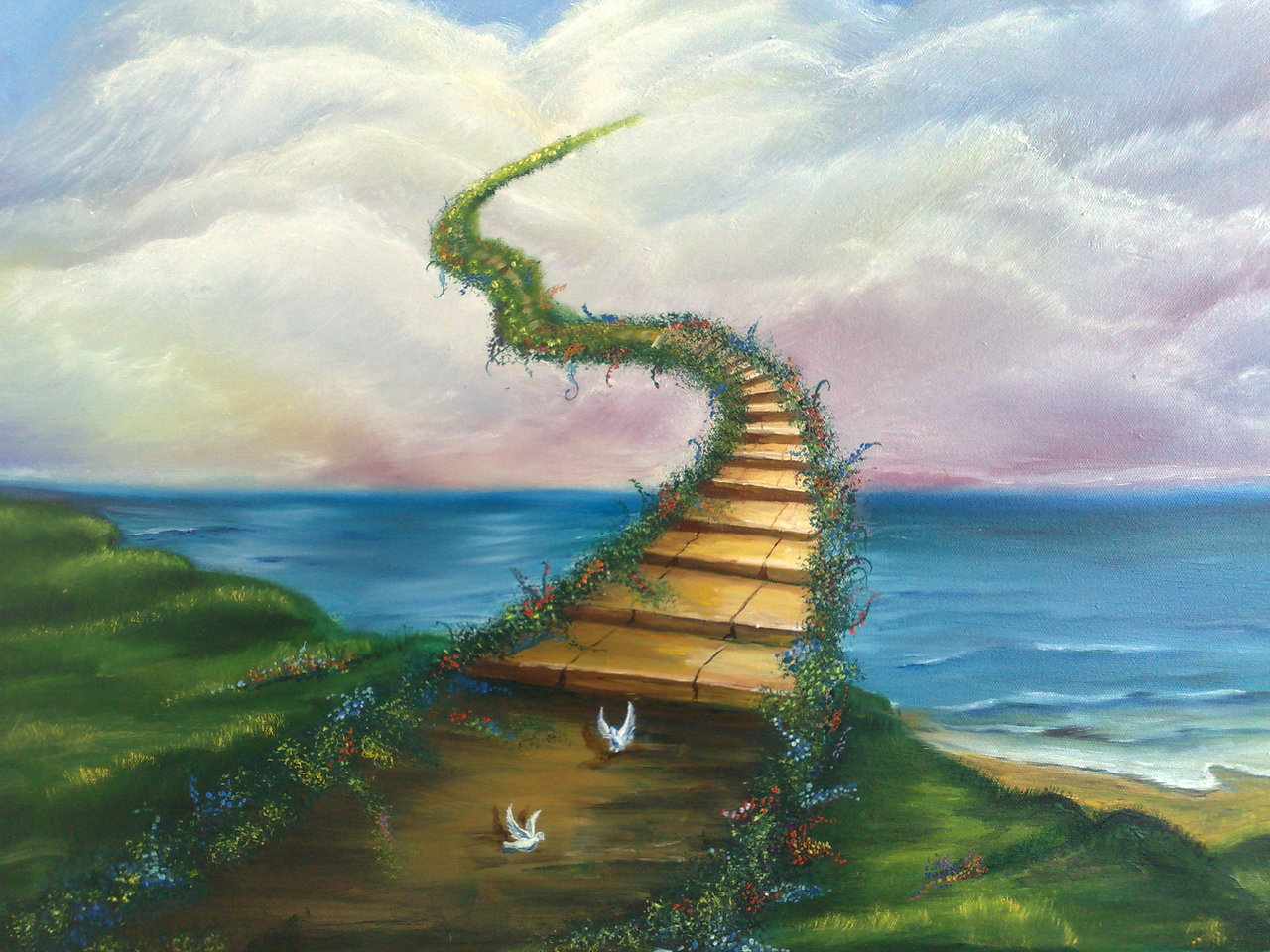 Картинки рая на небесах с водой