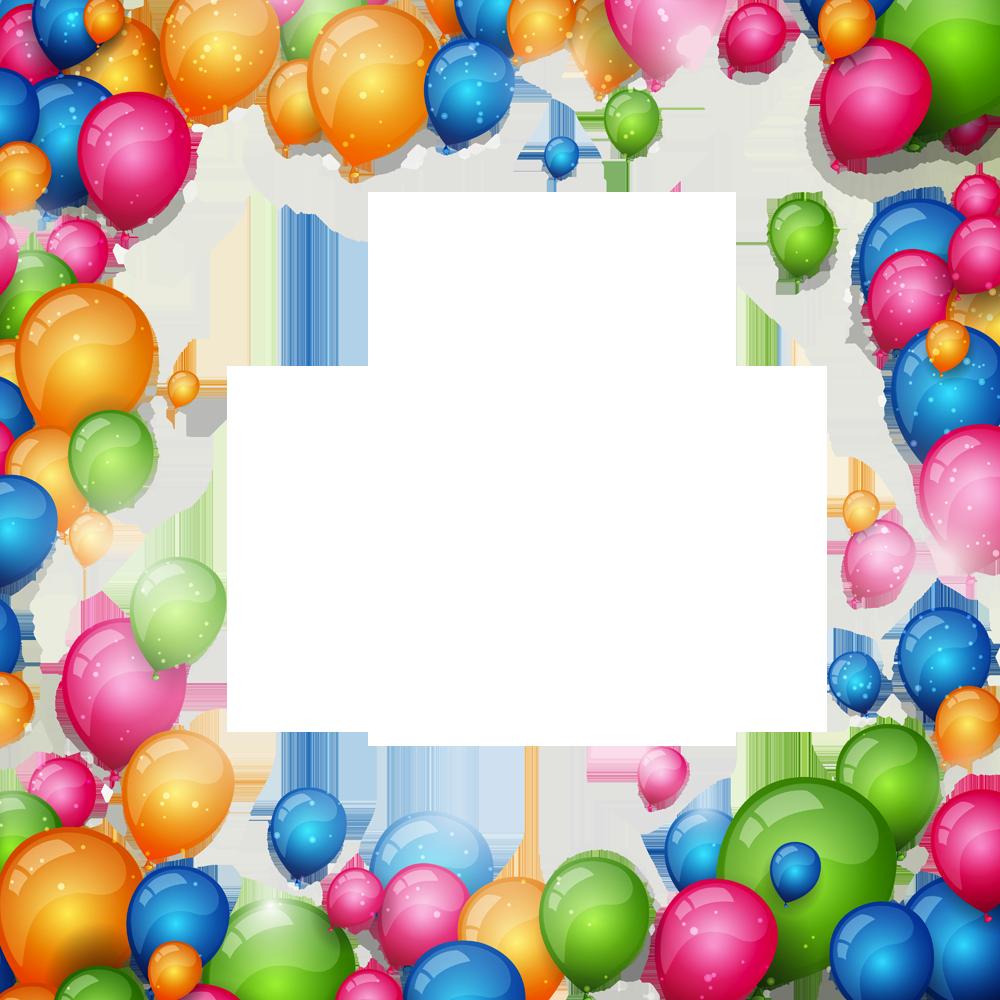 Открытка рамка с шариками