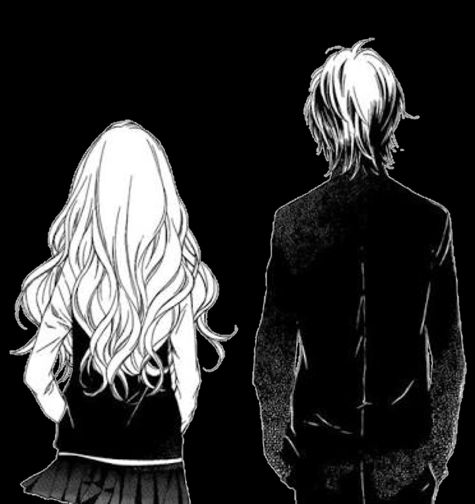 Девушка за спиной парня аниме картинки