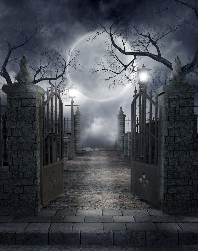 День крещения, картинки кладбище ночью