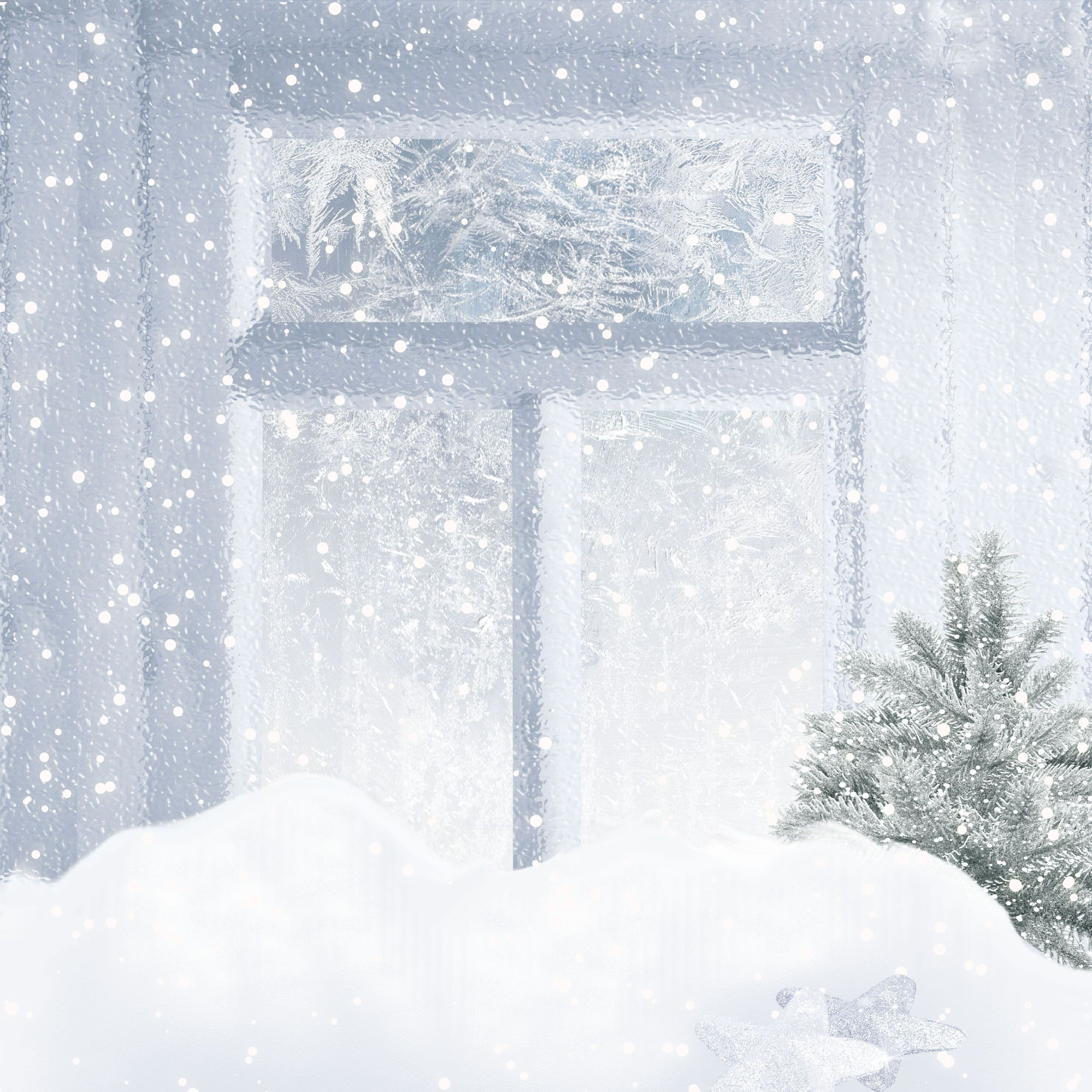 Картинка метель за окном